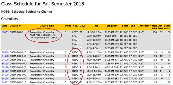 Schedule components screenshot